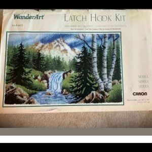 Sierra Latch Hook Rug Kit Mountain Stream 30 x 50